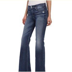 7FAM | Dojo Flare Leg Trouser Jeans Med Wash Sz 24